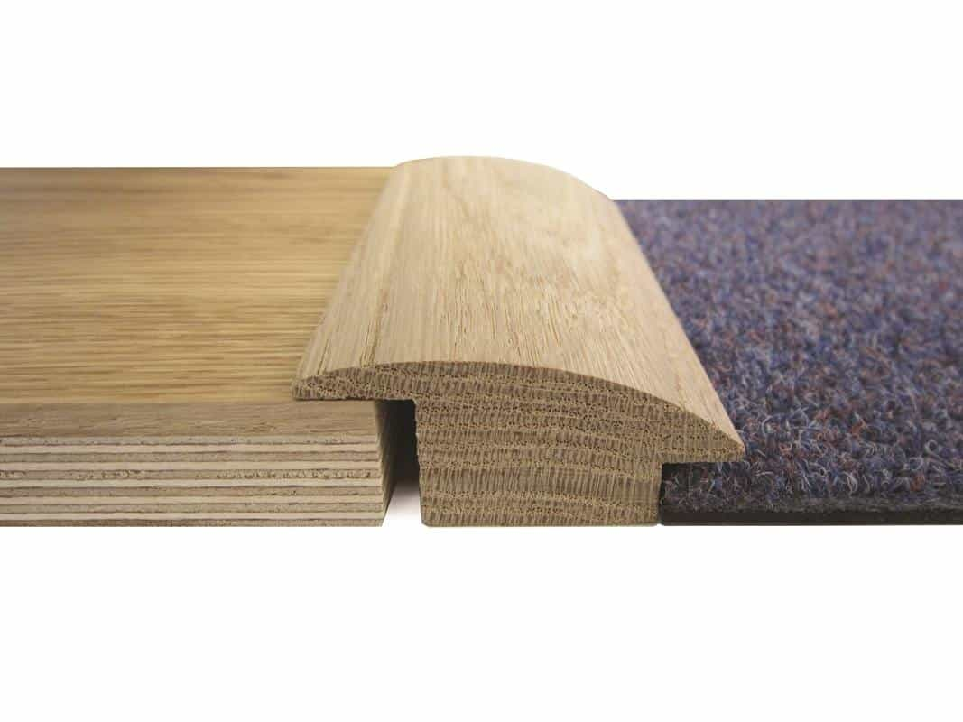 Walnut Satin Lacquered Wood To Carpet Reducer 15mm Thick 2700mm