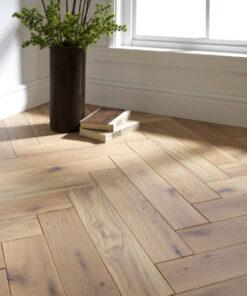 Atkinson & Kirby Engineered Herringbone Shrewsbury Oak Flooring