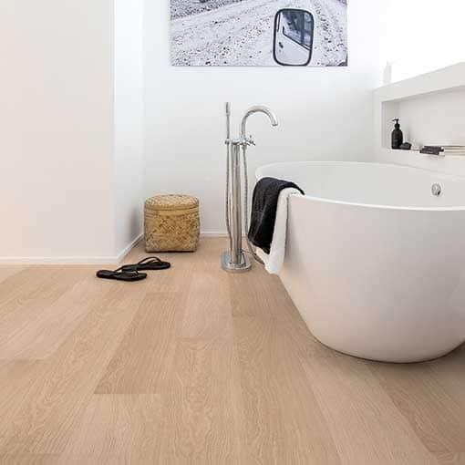 Quick Step Impressive Ultra White Varnished Oak Laminate Flooring
