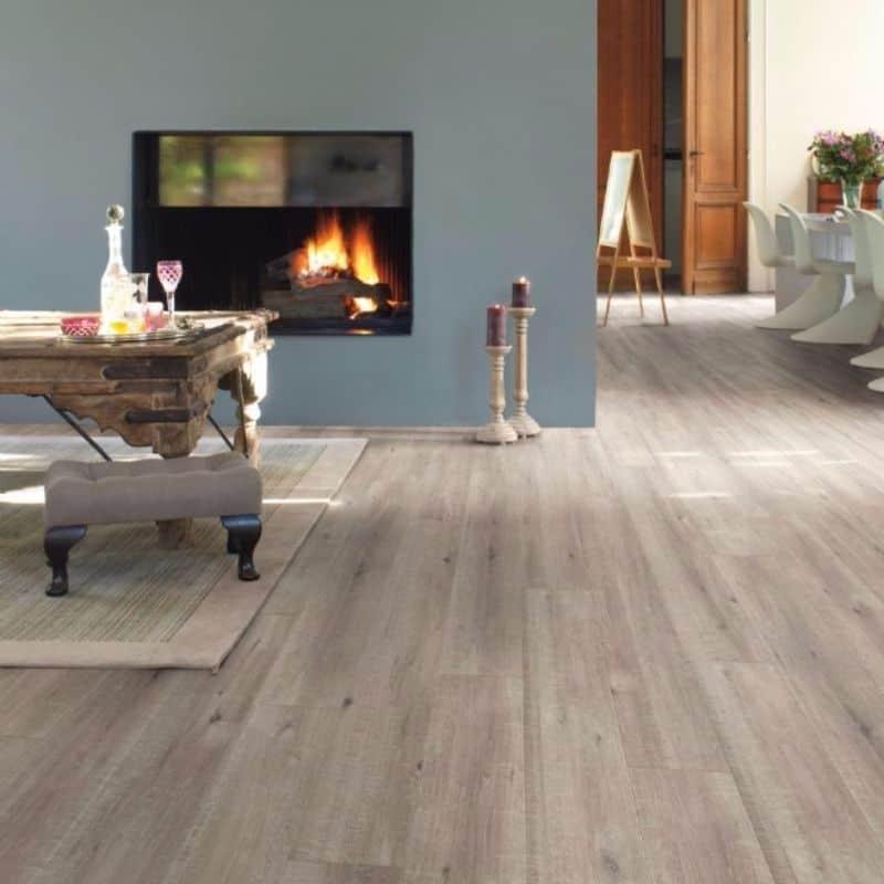 Quick Step Impressive Ultra Saw Cut Oak Grey Laminate Flooring