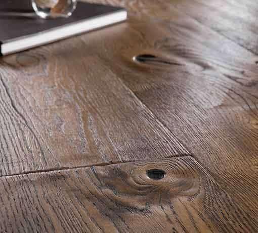 Boen Handcrafted Oak Antique Brown Deep Brushed Live Natural Oil 209mm