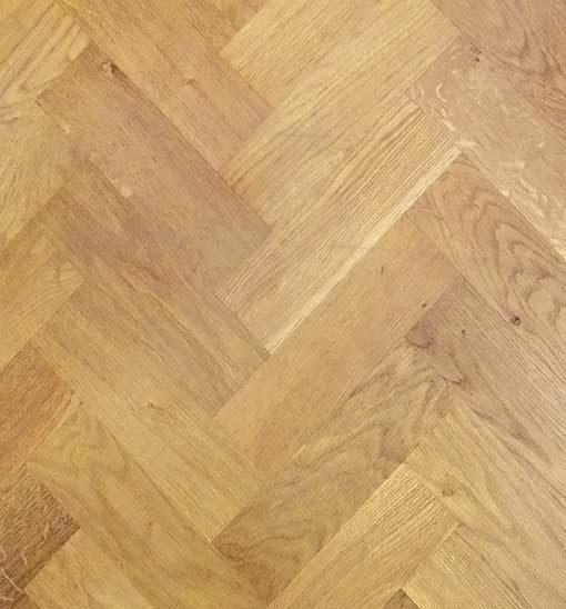 Solid Oak Wood Block Flooring Rustic Grade