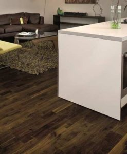 Junckers 2-Strip Black Oak Flooring kitchen