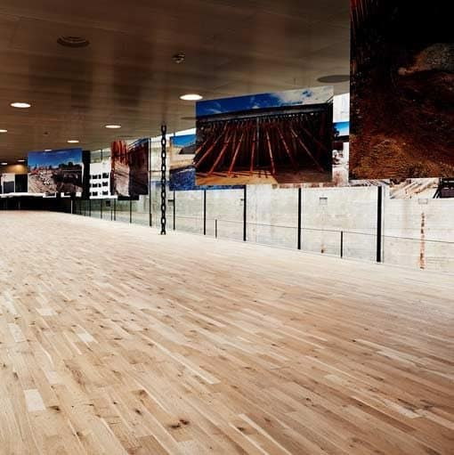 Junckers 2-Strip Textured Oak Flooring