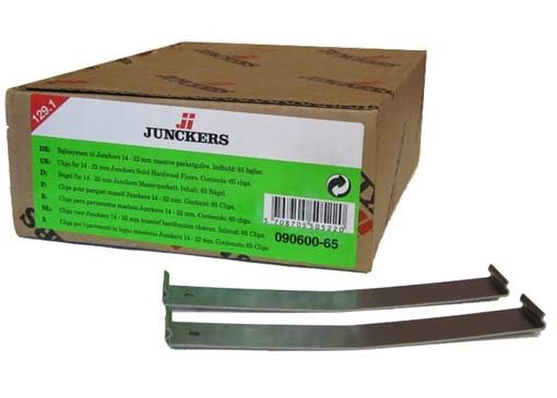 Junckers Clips 129.1mm (Green) One Hole 65 pack