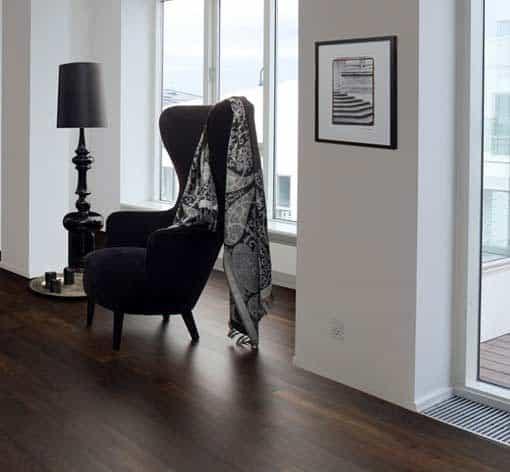 Junckers Plank Black Oak Flooring dark