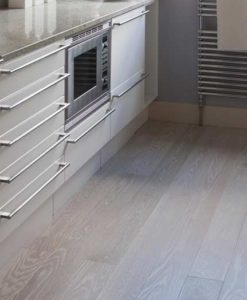 Junckers Plank Glacial White Textured Oak Flooring