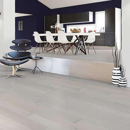 Junckers Plank Nordic White Plus Oak Flooring 140mm Wide Wood
