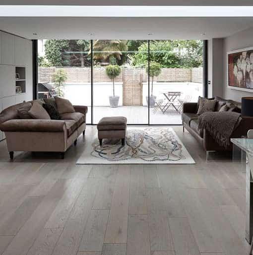Junckers Plank Silver Pearl Oak Flooring