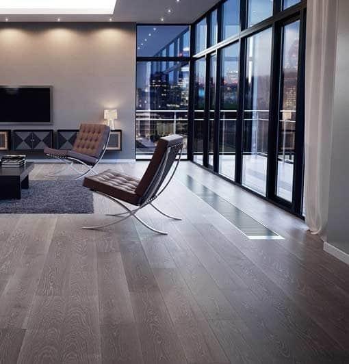 Junckers Plank Vista Grey Textured Oak Flooring
