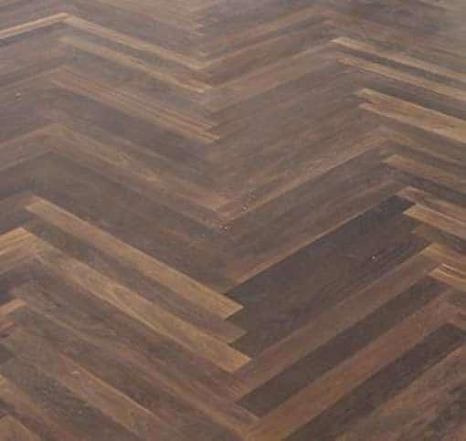 Junckers Single Stave Black Oak Parquet Flooring overhead