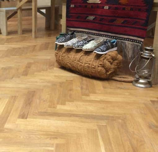 15mm Junckers Single Stave Oak Parquet Flooring 4676mm Long Wood