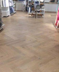 Junckers Whale Bone Oak Parquet Flooring