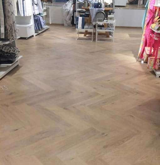 Junckers Whale Bone Oak Parquet Flooring 205mm Thick Wood