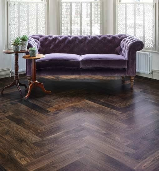 Junckers Whale Bone Black Oak Parquet Flooring 205mm Thick Wood