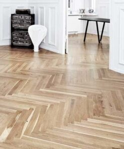 22mm Junckers Single Stave Oak Parquet Flooring 623.5mm Long