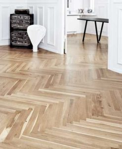 22mm Junckers Single Stave Oak Parquet Flooring 623.5mm Long