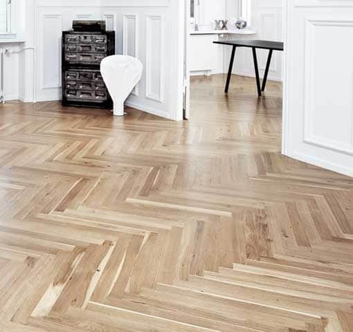15mm Junckers Single Stave Oak Parquet Flooring 6235mm Long Wood