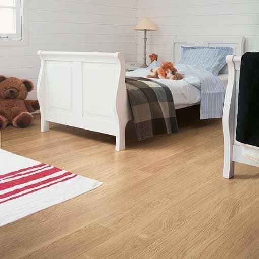 Quick-Step Eligna White Varnished Oak Laminate Flooring