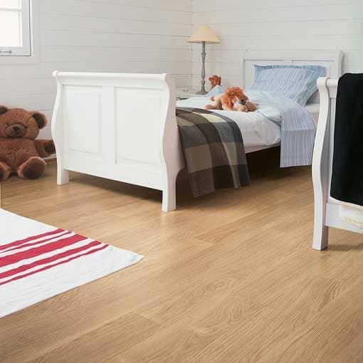 Quick Step Eligna White Varnished Oak Laminate Flooring Wood