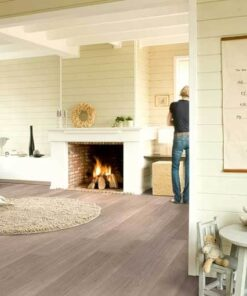 Quick-Step Elite Light Grey Varnished Oak Laminate Flooring