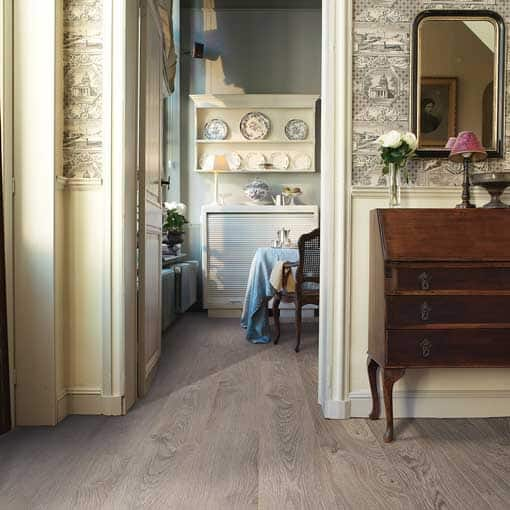 Quick Step Elite Old Oak Light Grey Laminate Flooring Wood
