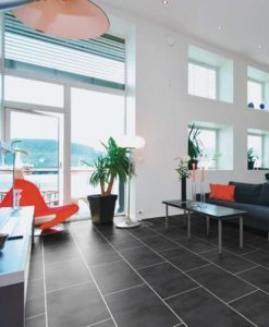 Luvanto Design Black Slate Vinyl Flooring