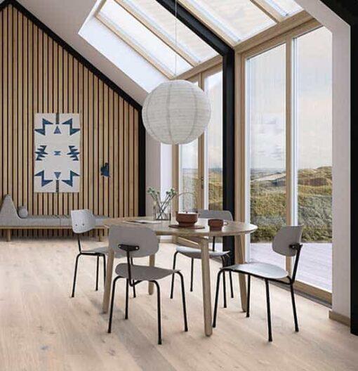 Boen Plank Oak Pale White Live Pure Lacquer Flooring