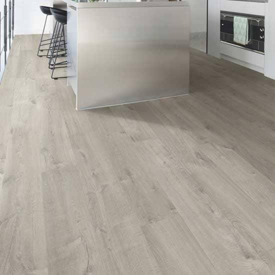 Quick Step Impressive Soft Oak Grey, Grey Oak Laminate Flooring