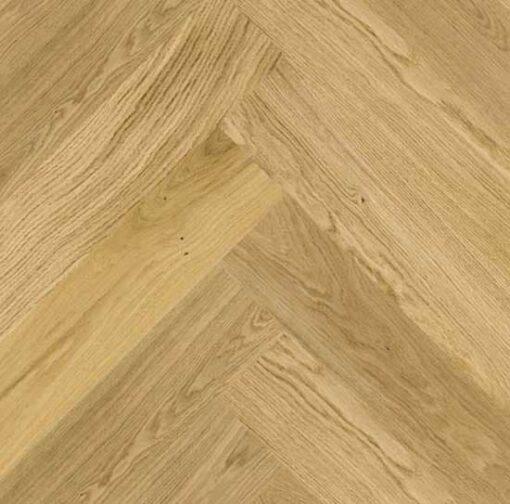 Click Herringbone Engineered Prime Oak Flooring Brushed & Matt Lacquer