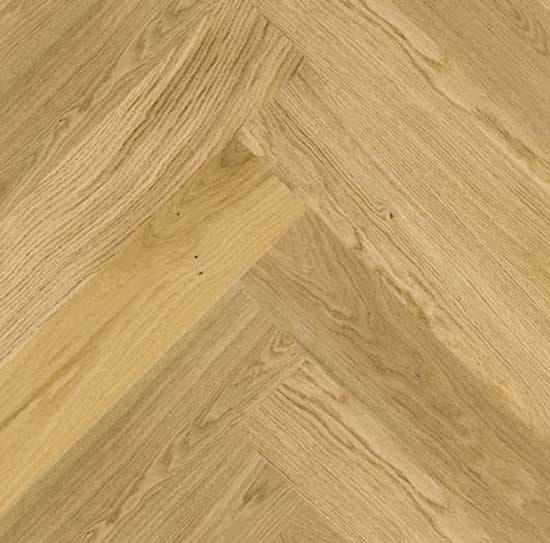 Click Herringbone Engineered Prime Oak Flooring Brushed
