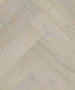 Click Herringbone Engineered Light Grey Oak Flooring Brushed & Matt Lacquer