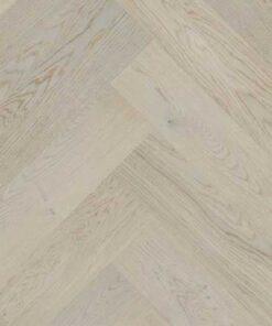 Click Herringbone Engineered Light Grey Oak Flooring Brushed & Matt Lacquer