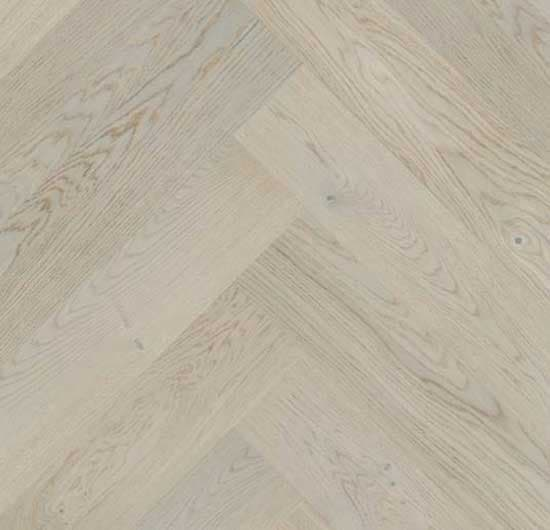 Click Herringbone Engineered Light Grey Oak Flooring