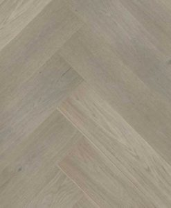 Click Herringbone Engineered Prime Grey Oak Flooring Brushed & Matt Lacquer