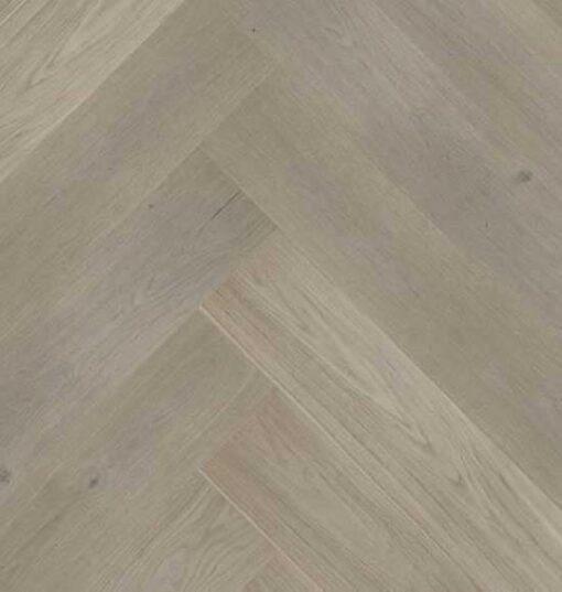 Click Herringbone Engineered Prime Grey Oak Flooring Brushed & Matt Lacquer