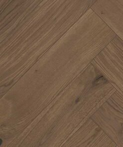Click Herringbone Engineered Dark Stained Oak Flooring Brushed & Oiled