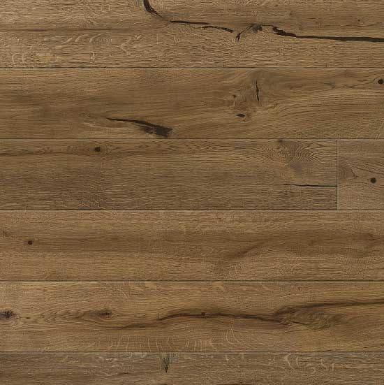 Contemporary Temple Engineered Oak Flooring Super Rustic Brushed