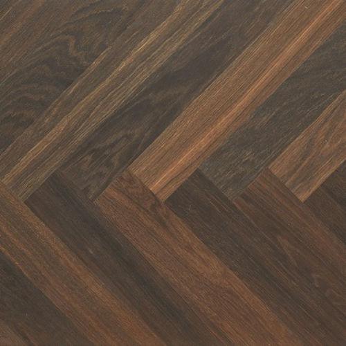 Atkinson Kirby Sloane Engineered Herringbone Smoked Oak Flooring 70mm Wide