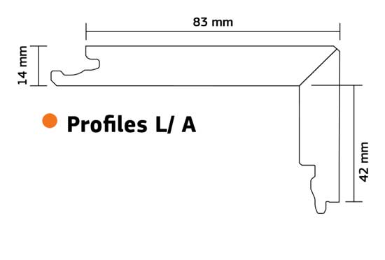 Boen Oak Stair Nosing Flush Fit 2200mm Long For 14mm Click Profile L/A Pack