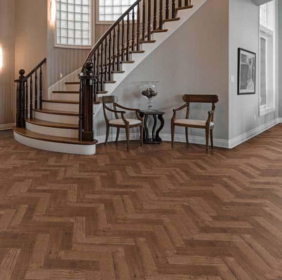 Luvanto Priory Oak Herringbone Vinyl Flooring Wood