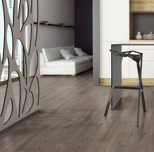Swiss Krono Premium Clay Grey Natural Varnished Oak Laminate Flooring