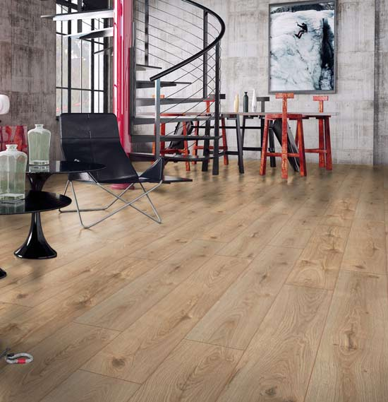 Swiss Krono Premium Natural Varnished Oak Laminate Flooring