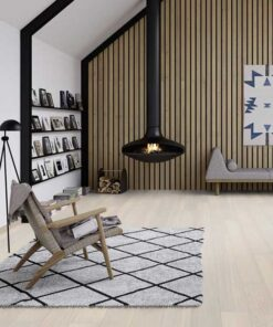Boen Andante White Pigmented Oak Plank Live Pure Lacquer Brushed 2 Bevel 181mm EBGD36FD
