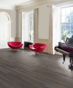 189mm Dark Grey Engineered Oak Flooring Brushed & Matt Lacquered