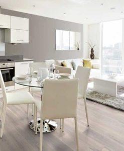 189mm Pure White Engineered Oak Flooring Brushed & Matt Lacquered