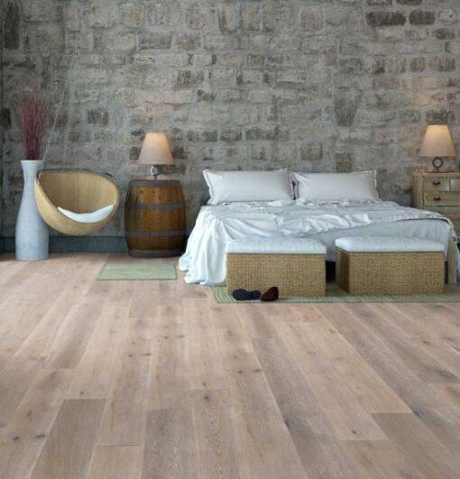189mm Smoked & Whitewashed Engineered Oak Flooring Brushed & Oiled