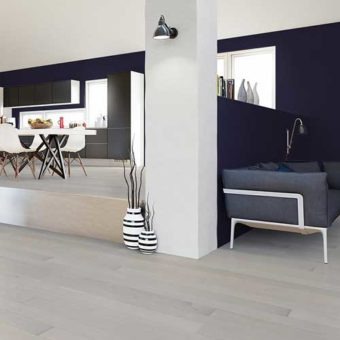 Grey solid wood flooring benefits
