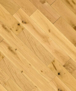 125mm Wide Solid European Oak Flooring Brushed & Oiled