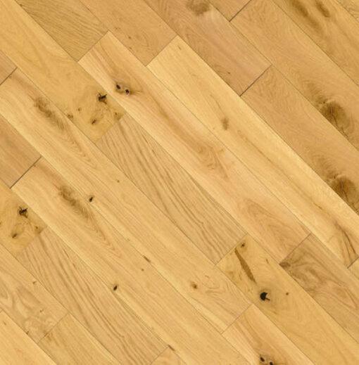 125mm Wide Solid European Oak Flooring Brushed & Oiled